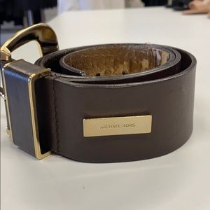 Michael Kors Brown with Gold Buckle Belt